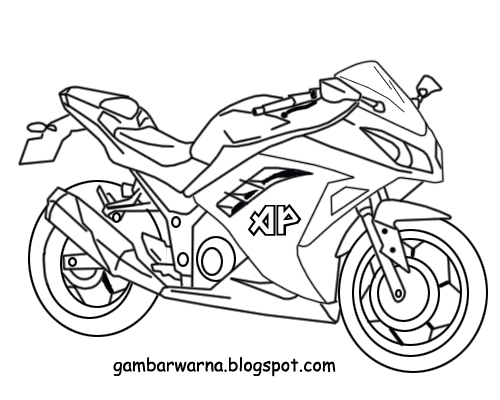 Mewarnai Motor Sport Belajar Mewarnai Gambar