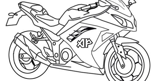 55 Gambar Motor Ninja Mewarnai Info Terpopuler