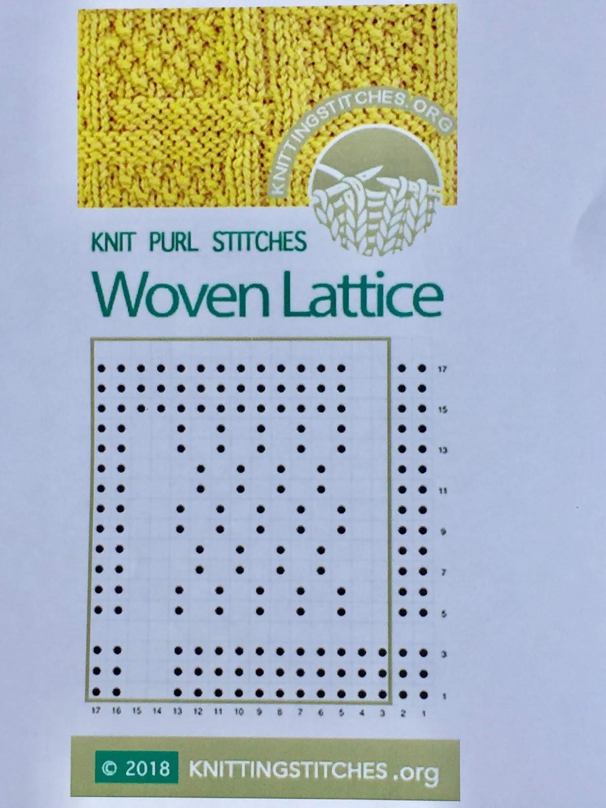 Knitting Stitches 2018 - Woven Lattice Knit Purl