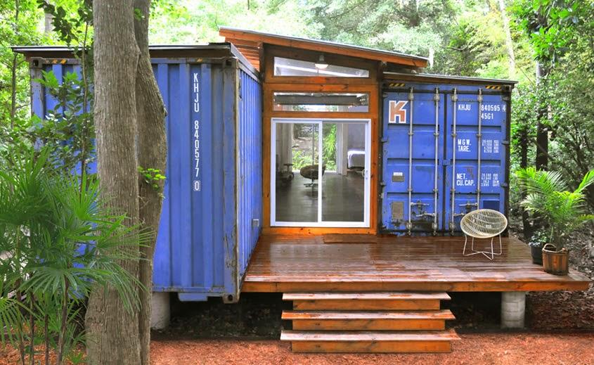 dise o de casa reciclada hecha de contenedores fachada y dise o de interiores construye hogar. Black Bedroom Furniture Sets. Home Design Ideas