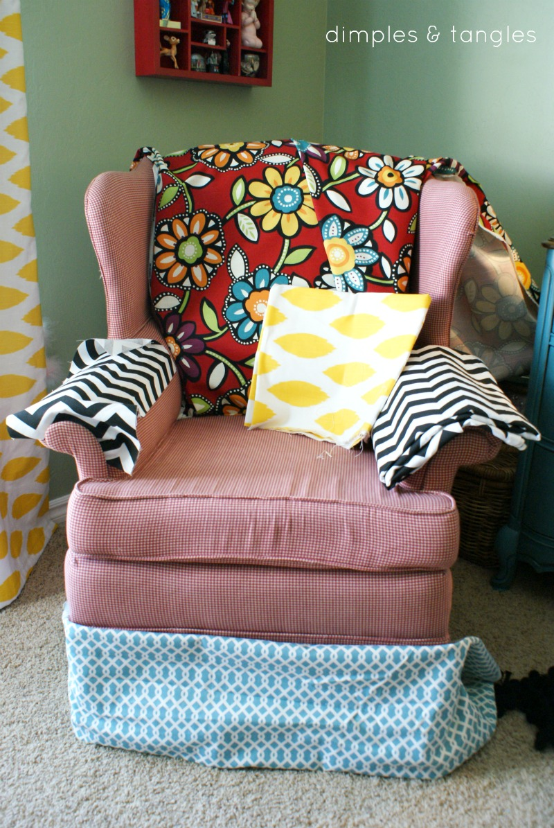 How To Reupholster A Chair With Hot Glue Gun Way Back Wednesdays Dimples And Tangles