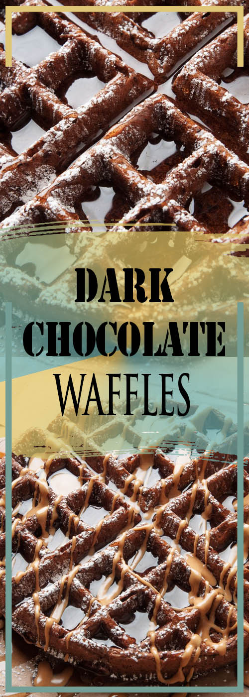 DARK CHOCOLATE WAFFLES RECIPE