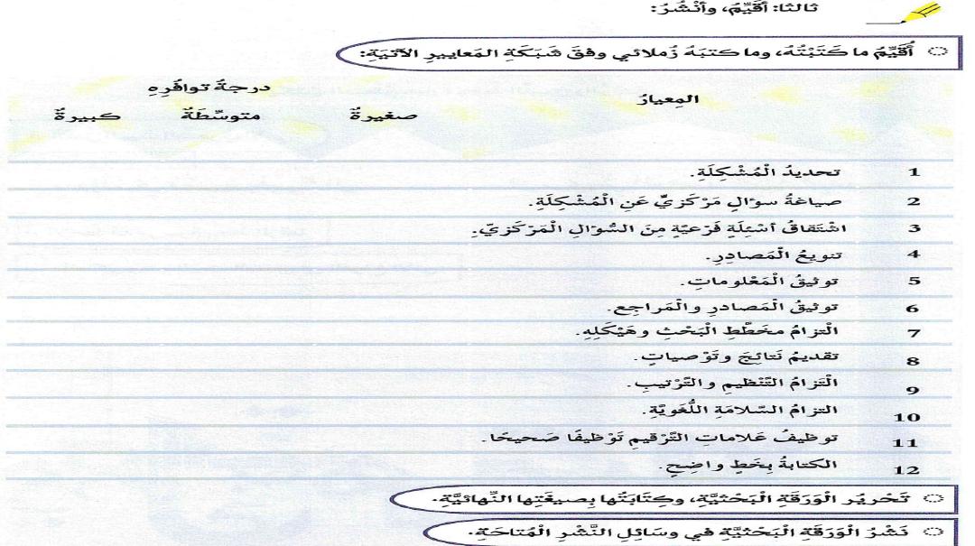 كتابة ورقة بحثية مدونة تعلم