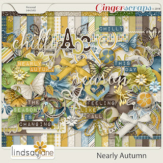 Creative Team, Annemarie, for GingerScraps -  Nearly Autumn Collection by Lindsay Jane and Ginger Scraps August Template Challenge #1 with Freebie Template