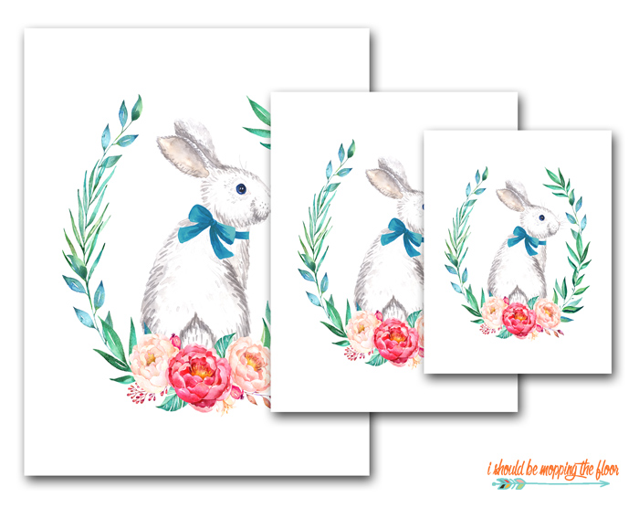 Watercolor Bunny Printable