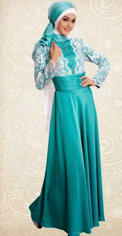 Model Gaun Pesta Muslim Yang Bervaritif