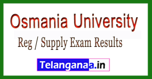 OU B.Ed Distance Mode (DM) Reg / Supply Exam Results 2018