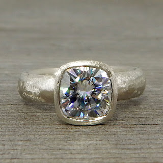 big square moissanite ring