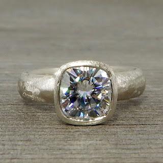big square moissanite ring