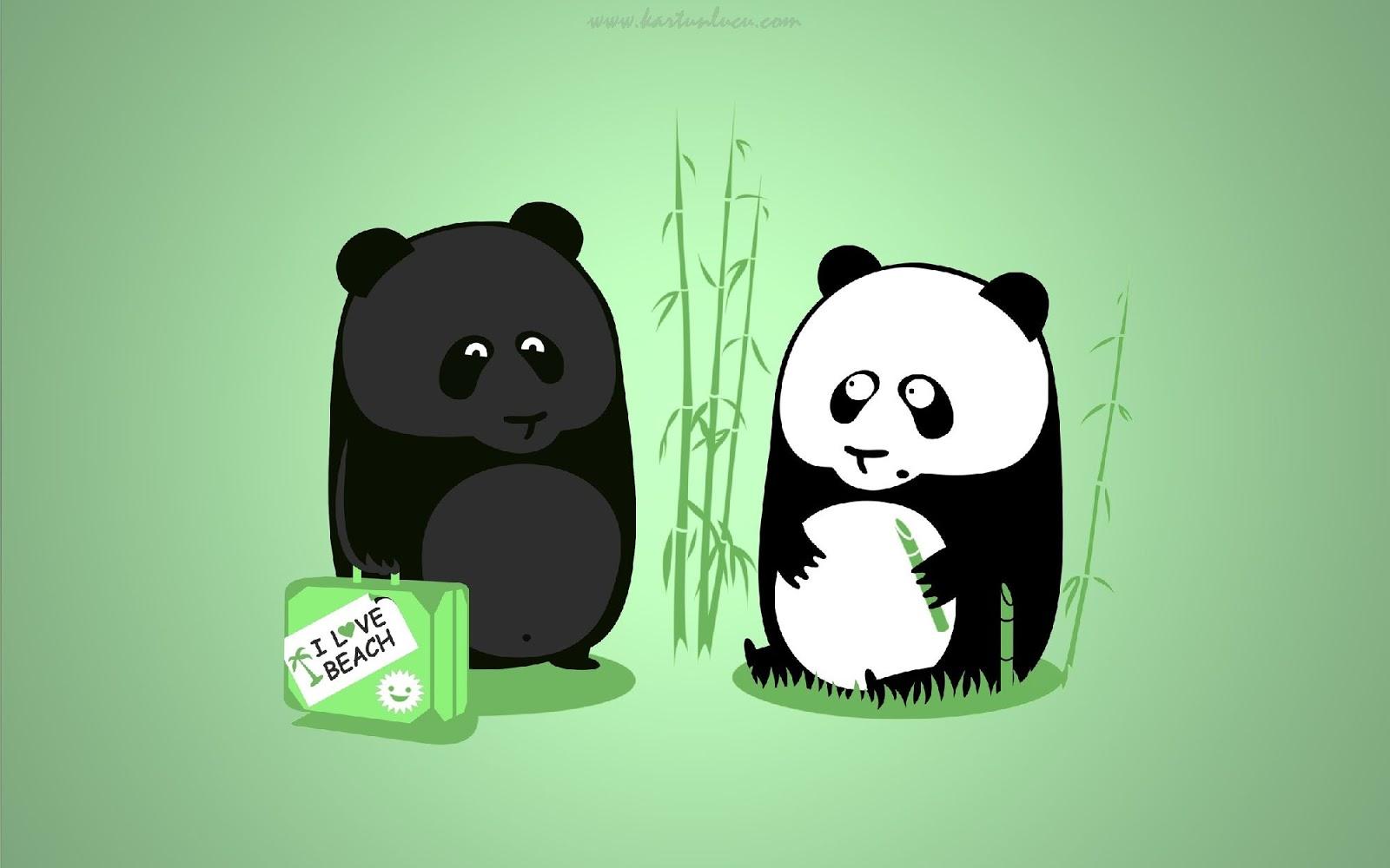Gambar Panda Lucu Buat Foto Profil Wa
