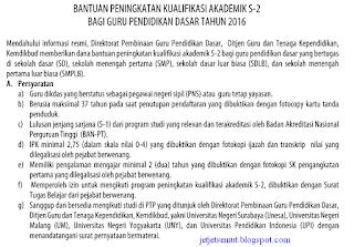 persyaratan beasiswa s2 guru SD Kemdikbud