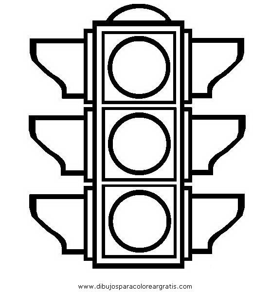 Imágenes de semáforos para colorear | Material para maestros ...