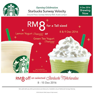 Starbucks Malaysia RM8 Tall Sized Frappuccino Discount Promo