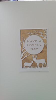 Owl in flower frame on blank C5 card insert