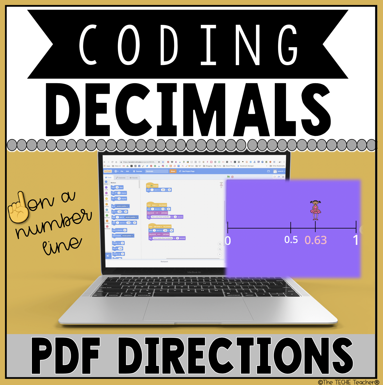Coding Decimals on a Number Line with Scratch 3.0