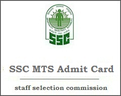SSC MTS Hall Ticket Download Admit Card (Multitasking Staff Exam)