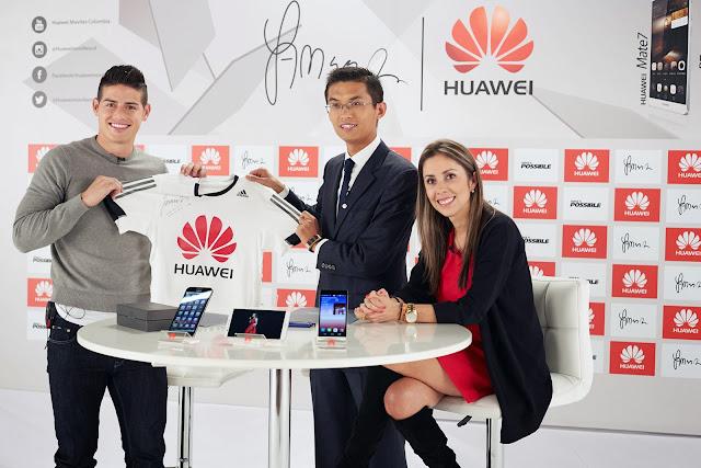 Huawei nombra a James Rodríguez como nuevo embajador