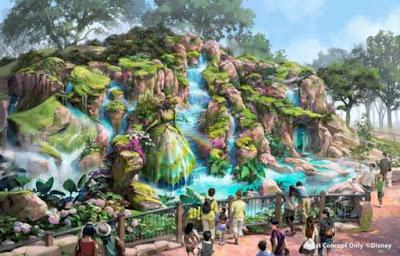 Fantasy Springs Waterfall Tokyo Disney Sea Concept Art