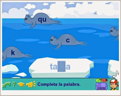 """""""Las focas"""" de Pipo (Juego de ortografía de c, k, q, z)"""