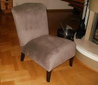 renowacja starego fotela art deco
