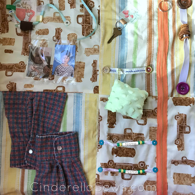 Fidget Quilt tutorial for Alzheimer's and dementia patients #sewing #sensory #alzheimers #dementia #sewingtutorial #lapquilt #fidgetquilt #quilt #quilting #alzheimerscare #sensorytoys