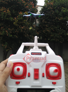 review, tes terbang drone syma x5hw indonesia