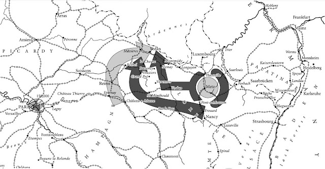 Η κύκλωση των γαλλικών δυνάμεων στο Μετς και στο Σεντάν