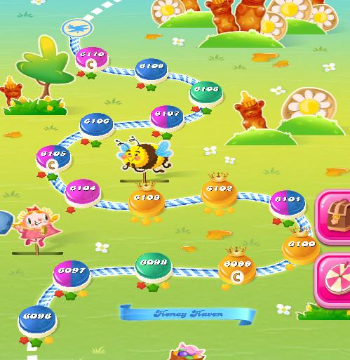 Candy Crush Saga level 6096-6110
