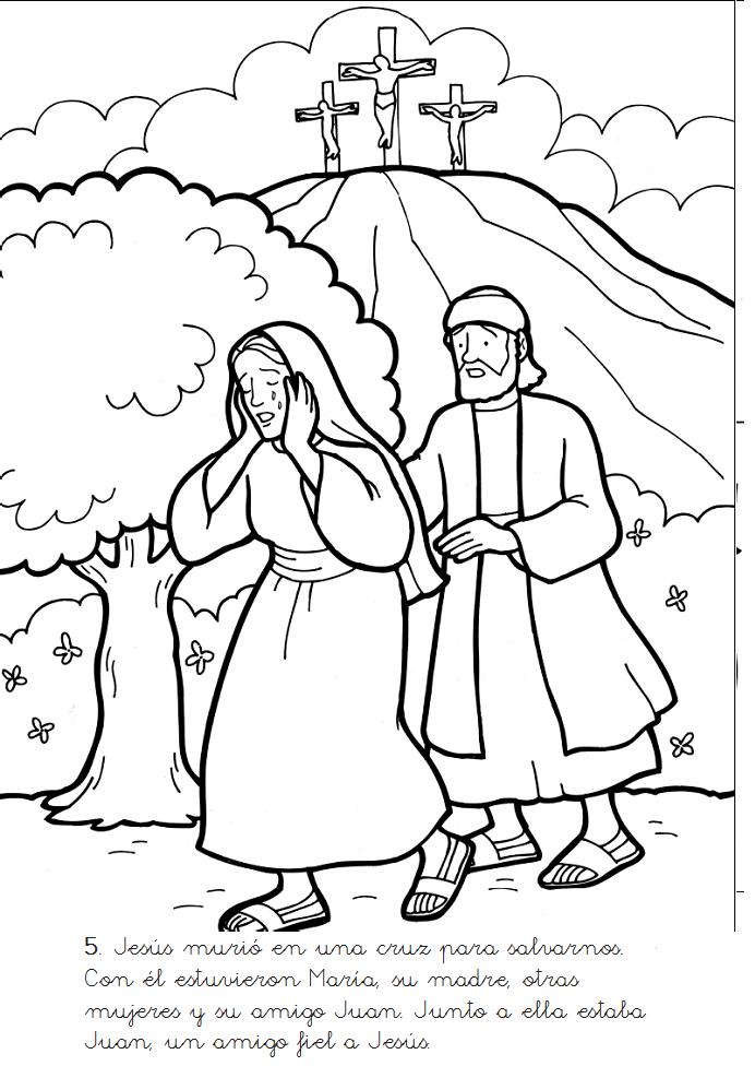 Historias Biblicas para Colorear: Muerte y Resurreccin de