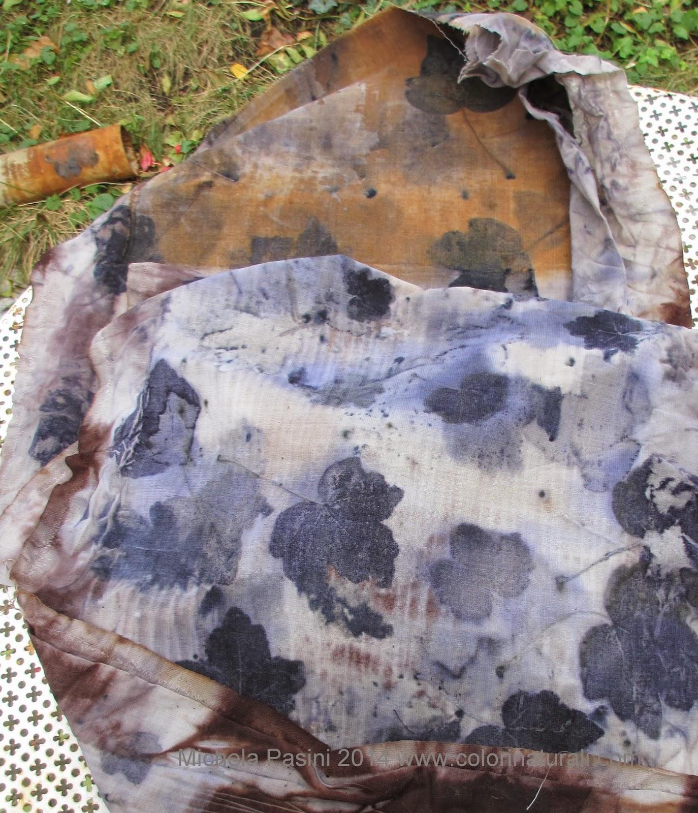 ecoprint ecoprinting abbigliamento tessuti