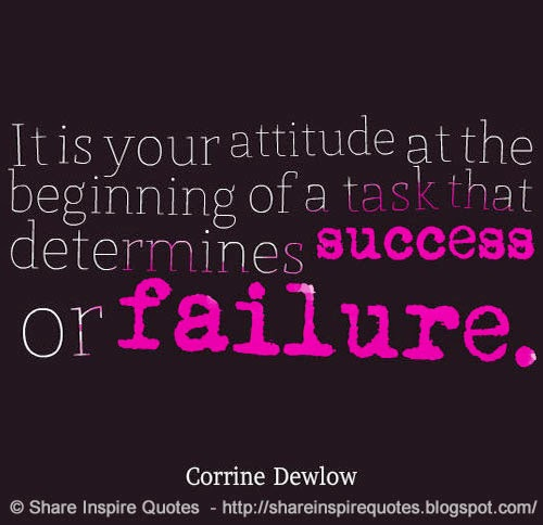 Funny Quotes For Love Failure: It Is Your ATTITUDE At The Beginning Of A Task That
