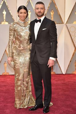 Jessica Biel Justin Timberlake Oscars 2017
