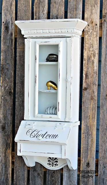 French Style Upcycle of a Thrifted Wall Curio #chalkpaint #stencil