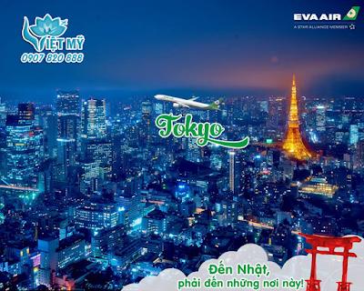 Vé máy bay đi Tokyo Nhật Bản hãng EVA Air