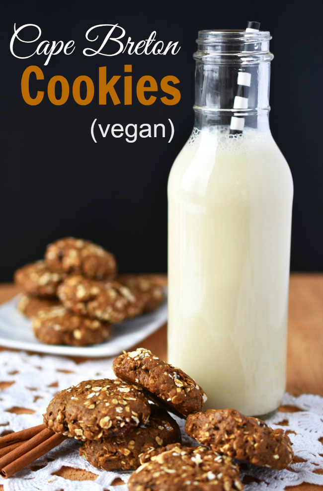 Rich with molasses & cinnamon, these vegan Cape Breton Cookies are crispy on the outside, dense and chewy in the middle. A great addition to your Christmas platter.
