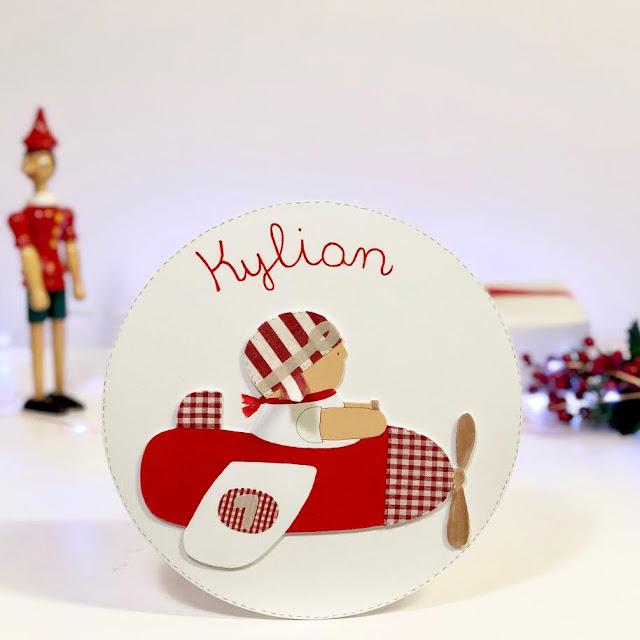 placa-puerta-decoración-infantil-personalizada-aviador rojo