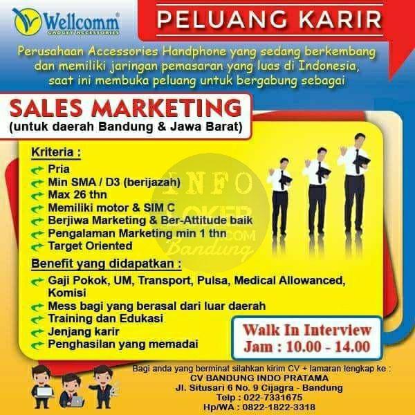 Lowongan Kerja CV Bandung Indo Pratama Bandung Juli 2018