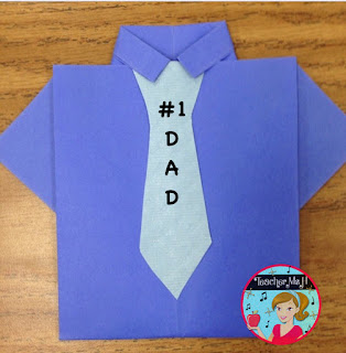 Father's Day Origami Shirt Card Craft