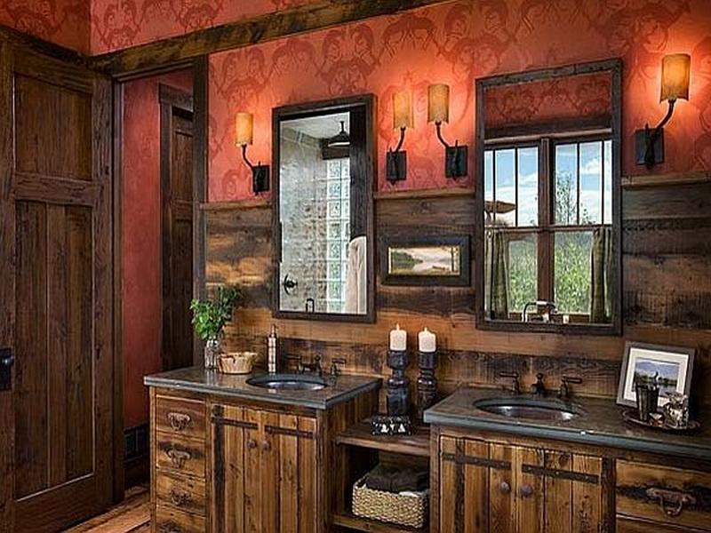 rustic bathroom vanities for unique look yonehome on rustic bathroom designs photos id=71518