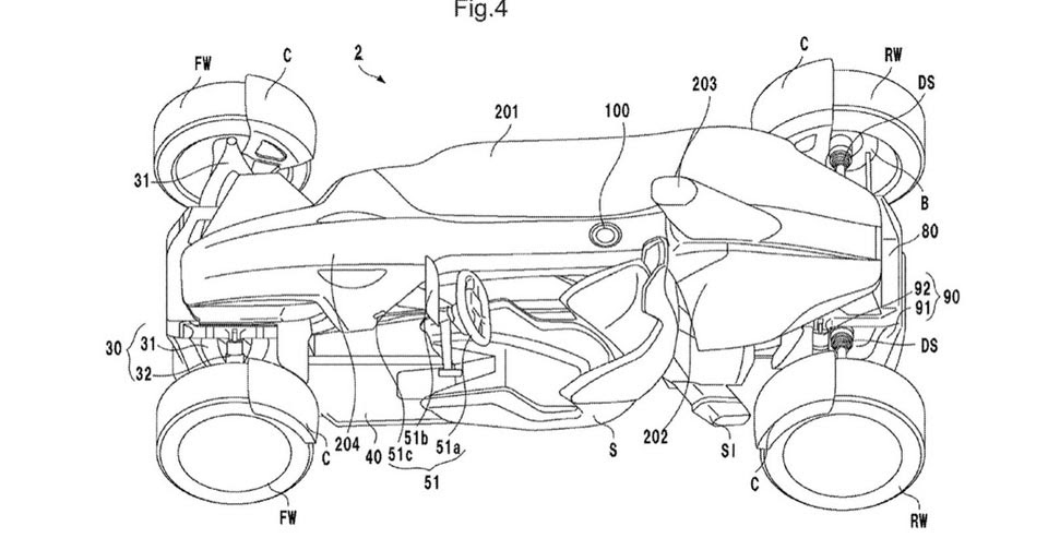 does this intriguing honda patent show a road