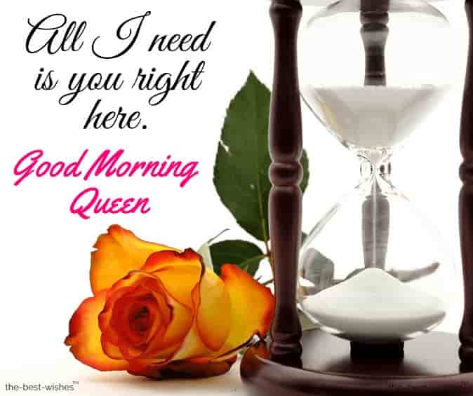 good morning my beautiful queen text