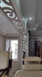 habillage mural bois salon moderne ADM plus