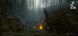evil within concept fantasy medieval village farm caravan foggy google artwork villages apocalypse