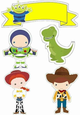 Toy Story Babies Free Printable Cake Toppers.