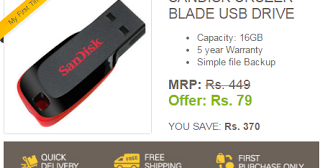 3b9b67488a5 Ebay Loot   Buy Sandisk Cruzer 16GB Pendrive at Just Rs.79 Only (Pendrive  Flash Sale is Live Now) - 3GHACKSPOT - Free Recharge tricks