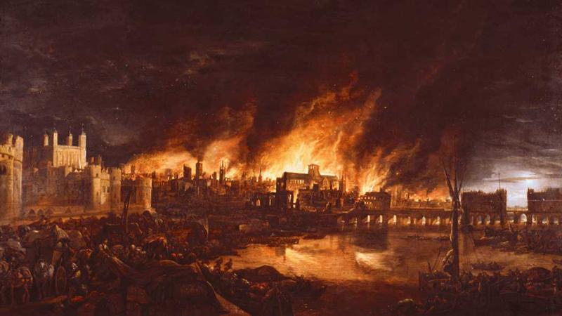 Големият пожар, почти напълно унищожил Лондон - История, наука ...