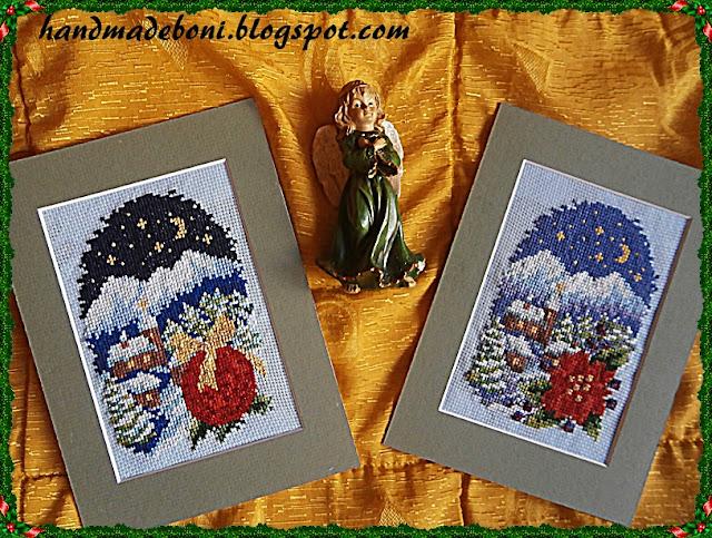 Świąteczne kartki – haft krzyżykowy.