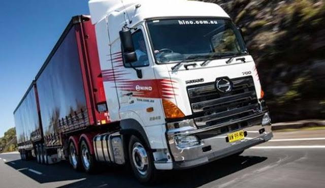 modifikasi mobil truk hino lohan trailer