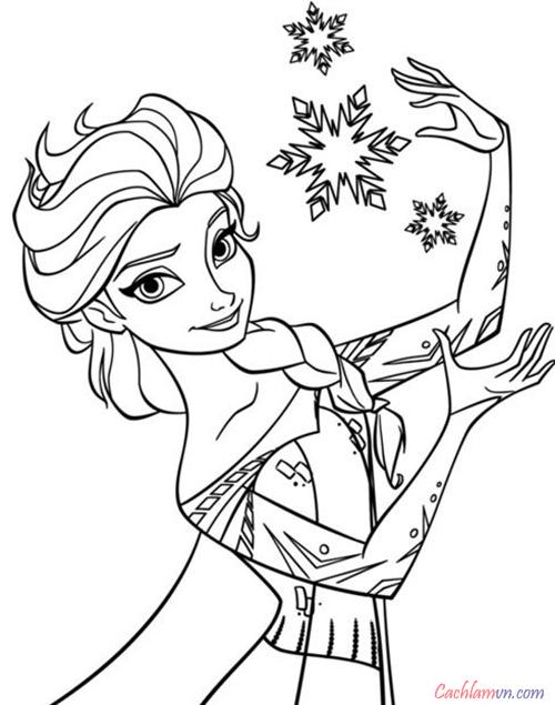 Bộ sưu tập tranh tô màu công chúa đẹp nhất cho bé: Công chúa elsa, bạch tuyết, anna