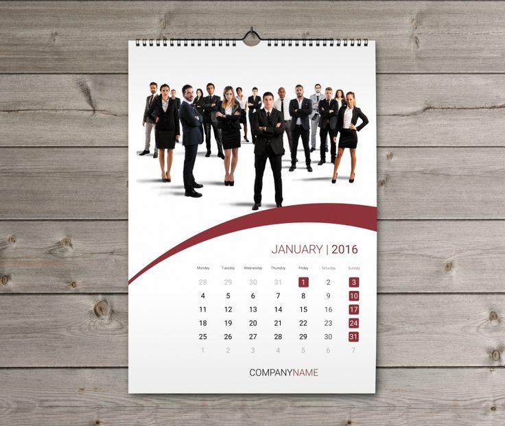 Corporate Wall Calendar Design Templates : Cetak kalender percetakan murah di malang